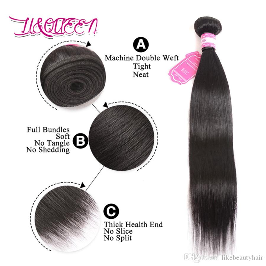 Brazilian Straight Virgin Hair With Closure Top 7A Unprocessed Virgin Brazilian Human Hair Weaves Closure 3 Bundles With Lace Closure