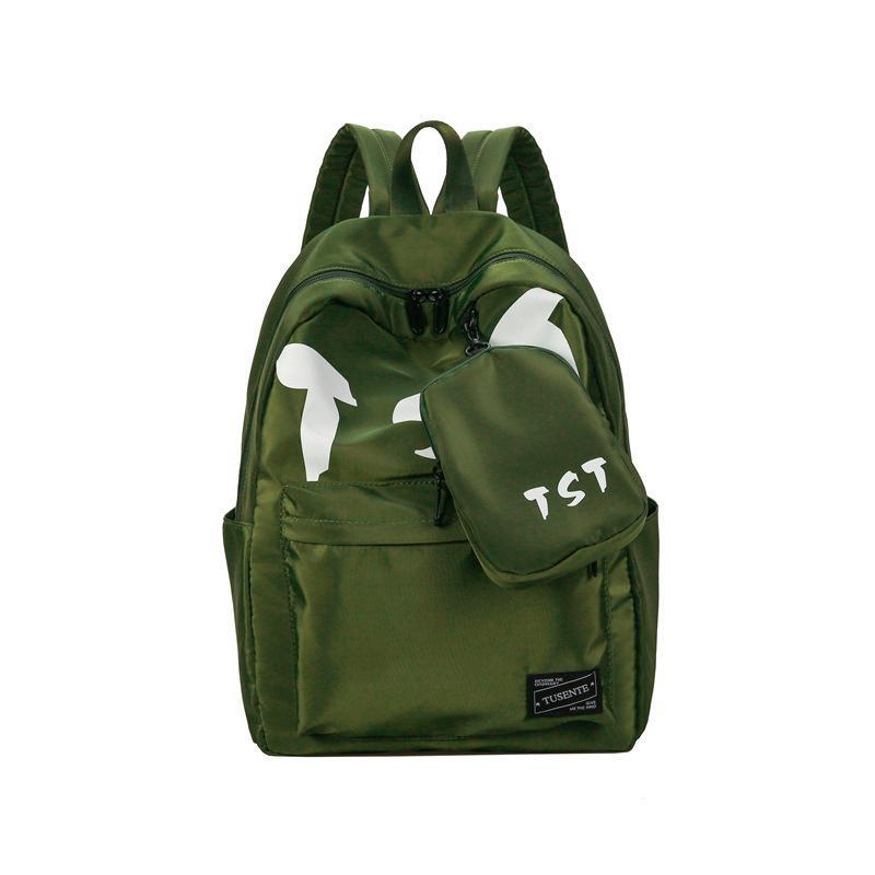 Fashion Student Pack Backpack Summer New College Wind Women Bags Junior  School Tide Wind Canvas Female Personality Backpacks Style Student Pack  Backpack ... ae95a46132f70