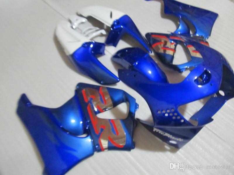 Nuevo kit de carenado de partes calientes para Honda CBR919RR 98 99 carenados blancos azules CBR 900RR 1998 1999 OT25