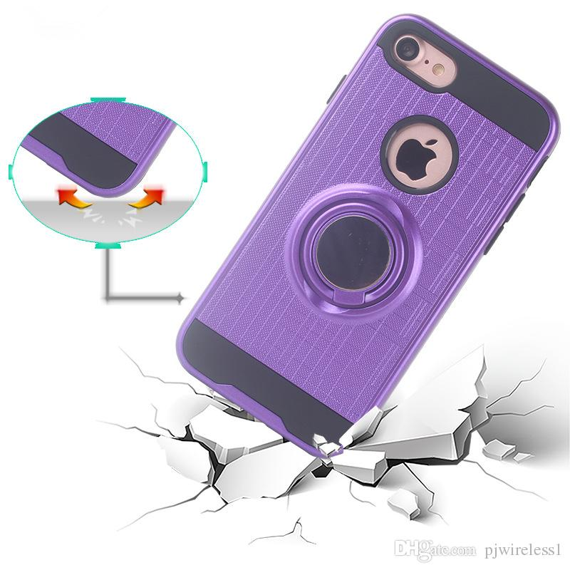 Armor Cell Phone Case TPU PC Magnetic Suction Bracket For ZTE Blade Z Max Z982 Metropcs Case Cover 360 Degree Holder A
