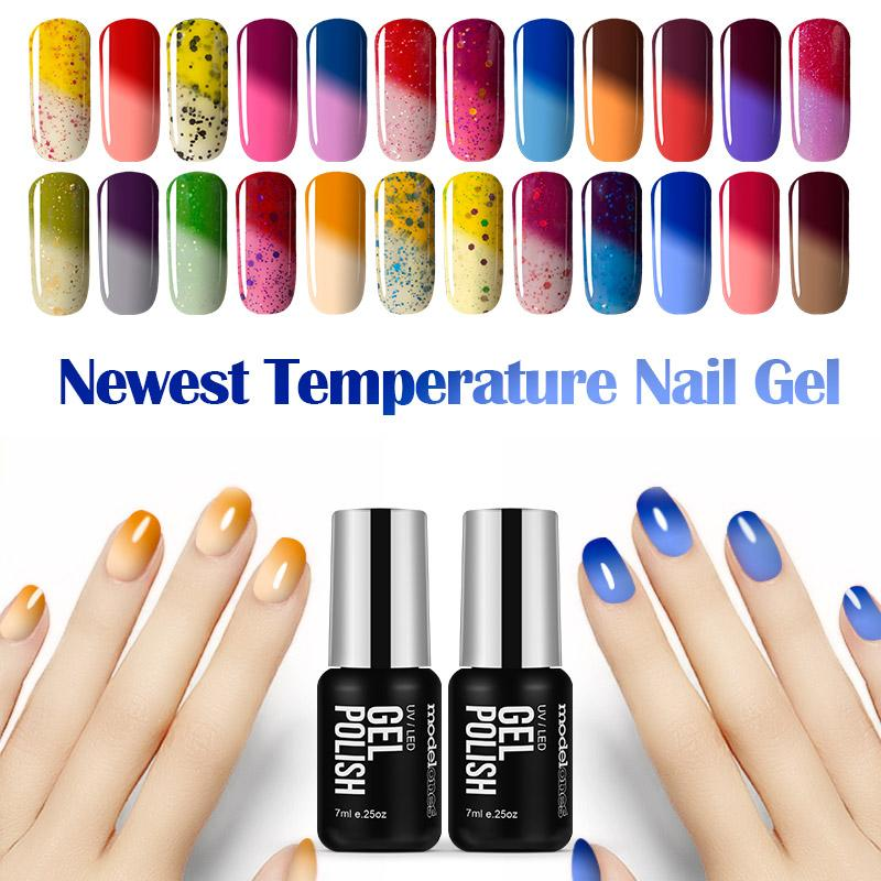 Wholesale- 2016 Hot Sale Temperature Chameleon Nail Gel Polish UV ...