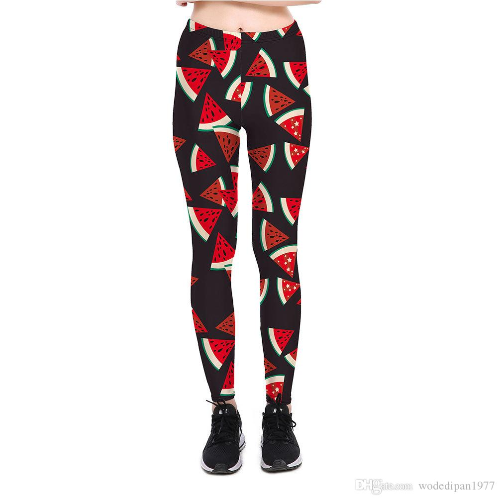1ec826048c1bb 2019 Womens Watermelon Print Workout Bodycon Slim Leggings Trousers Hot  Summer Casual Fitness Elastic Skinny Pants For Female From Wodedipan1977,  ...