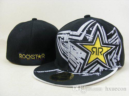Rockstar Cappelli aderenti Gorras Bones Masculino Cappelli a tesa piatta Rockstar Cappuccio Chapeau Homme Mens Womens Skateboard Gorras
