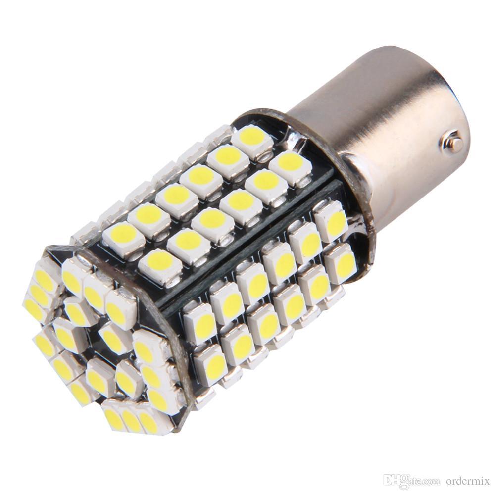 Super Branco 1156 BA15S P21W Xenon Luz LED 80SMD Auto Car Xenon Lâmpada Cauda Turn Signal Reverter Lâmpada Luz