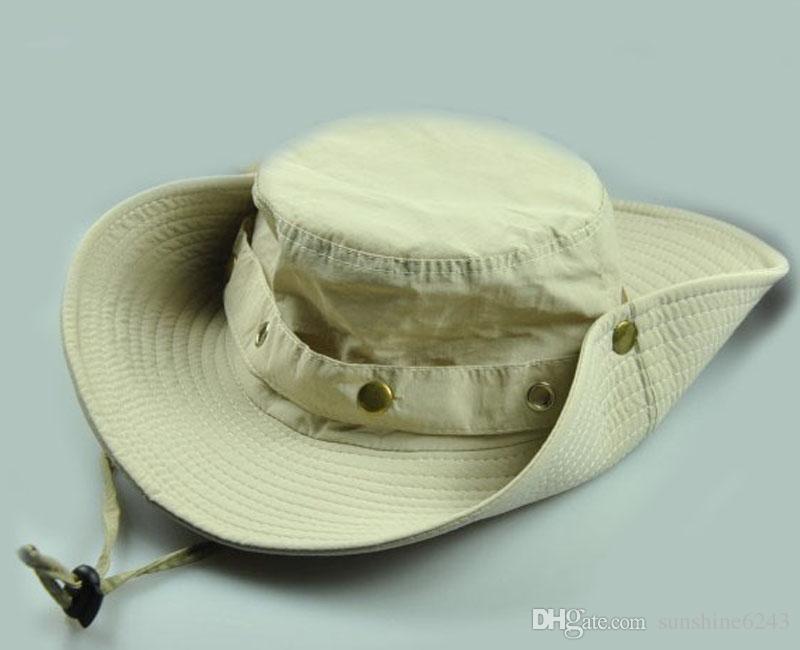 2017 Wide Brim Hats hot Fishing Hiking Military Bucket Sun Hat Cap Woodland New men hat