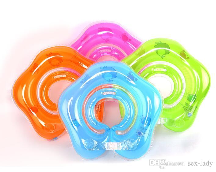 Nuevos accesorios para nadar para bebés nadar cuello anillo bebé Tubo Anillo de seguridad flotador infantil cuello para bañarse Inflable Más reciente Gota