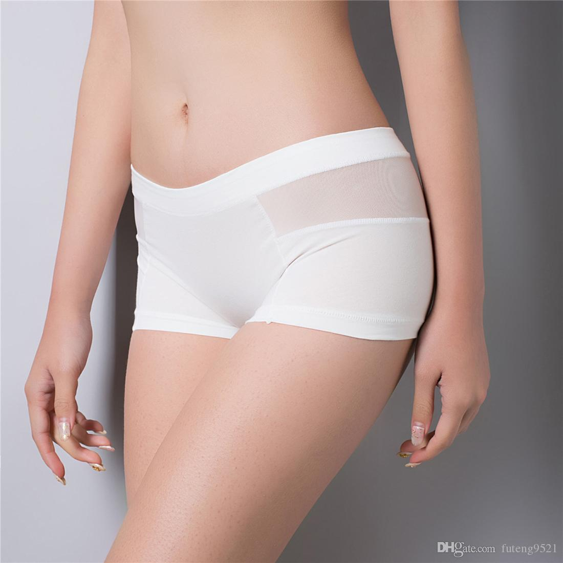 5e09bd81ebc Pure Color Boyshorts Cotton Granny Panties Middle Waist Control Briefs  Women Seamless Underwear Lingeries Canada 2019 From Futeng9521