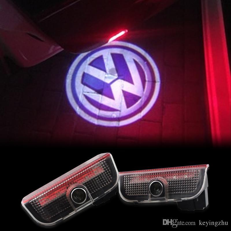 2018 Car Door Light Warming Logo For Volkswagen Tiguan Cc Sharan