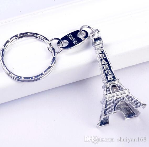 زوجان عشاق المفتاح الدائري الإعلان هدية سلسلة المفاتيح سبيكة الرجعية برج ايفل مفتاح سلسلة برج الفرنسية باريس تذكارية حلقة مفاتيح لزينة السيارات