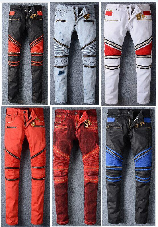 2017 2016 New Robin Mens Jeans Zipper Classic Gold Metal Wing ...