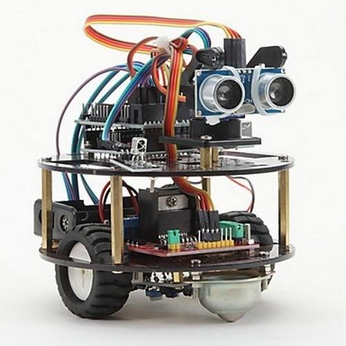 Inteligente Aprendizaje de automóviles Robot de la suite Inteligente Control inalámbrico de la tortuga basado para Arduino Robot Kit de montaje del coche Envío gratis