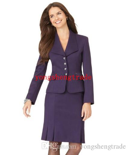 Hot Selling Purple Women Business Suit Custom Made Lady Suit