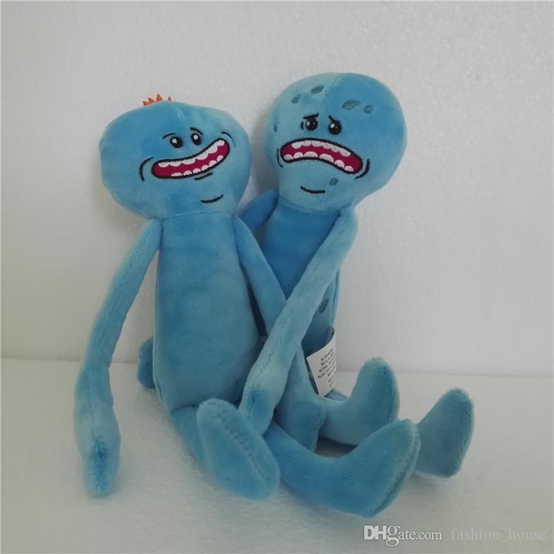 9.8 pulgadas 25 cm Rick y Morty Feliz Triste Meeseeks Peluches Muñecos de Peluche Para Niños Regalo 2design A08