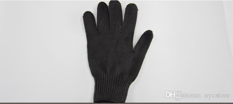 outdoor work Anti-cutting 5A grade stainless steel wire gloves professional enhanced multi-functional anti-cut protective gloves black