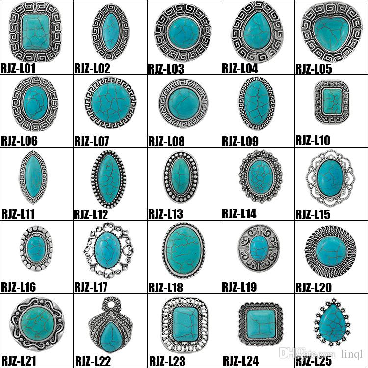 2019 High Quality Turquoise Rings 112 Styles Vintage Turquoise
