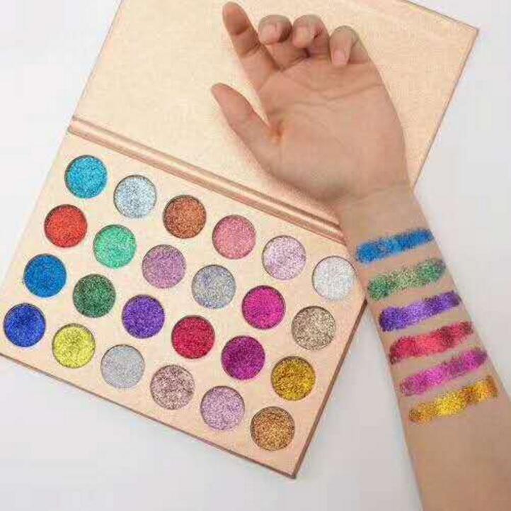 Hot CLEOF Glitter Eyeshadow Powder Pigment Mineral Spangle Long-lasting CLEOF Diamond Rainbow Eyeshadows Gift