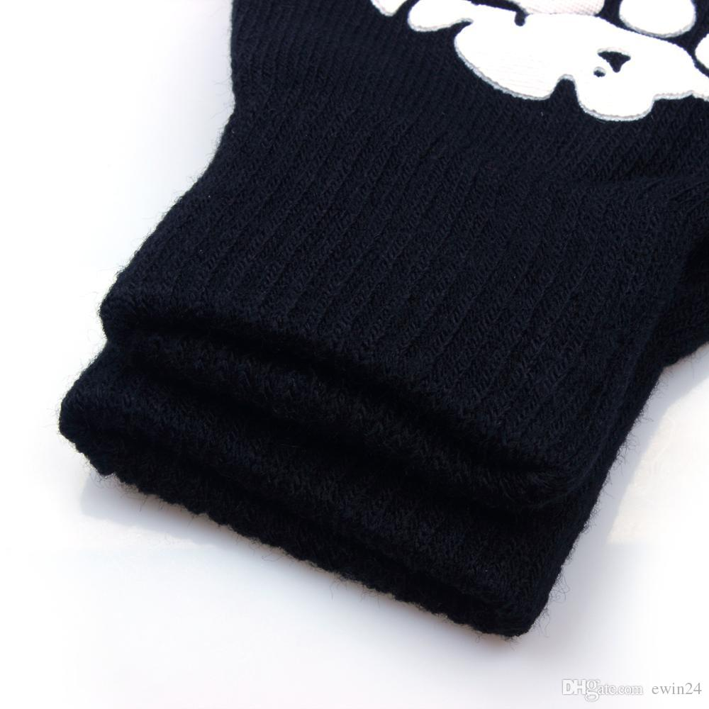 Halloween Magic Gloves Elastic Fingerless Skull Cycling Gloves Bicycle Half Finger Gloves For Party outdoors multifunctional