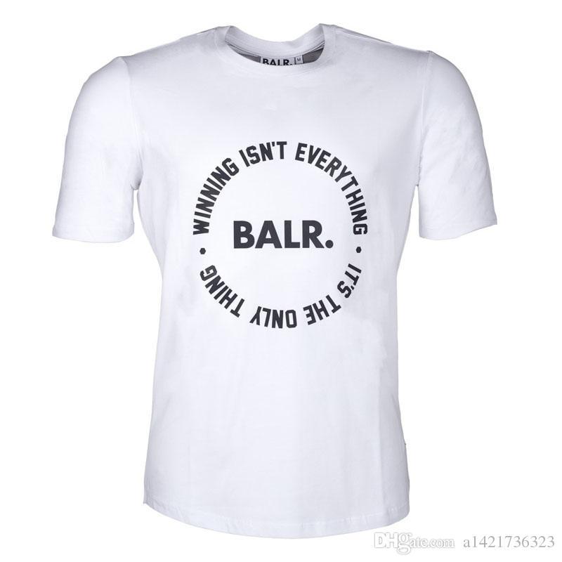 Homens balr T shirt Camiseta Homme Algodão BALRED Tops Carta de Impressão Roupas de Marca de Fundo Redondo Tshirt da Aptidão Euro Tamanho T-shirt
