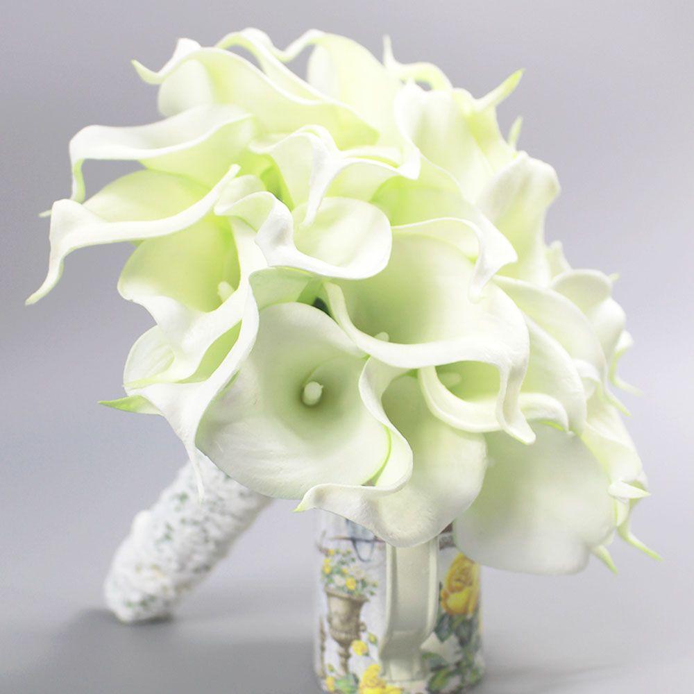 2018 Bouquet De Mariage Fashion High Quality Pu Fake Flowers Bridal