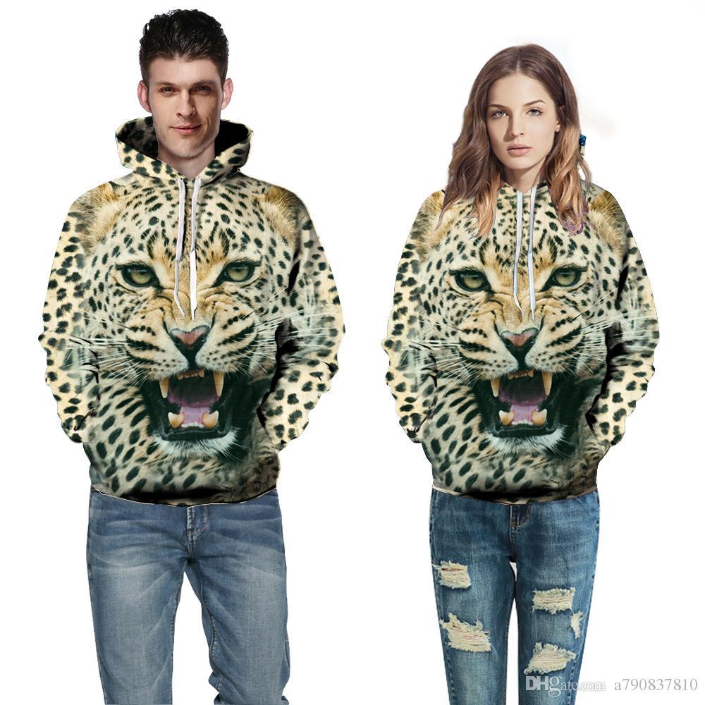 Sweat à capuche imprimé en 3D Décontracté graphique à la mode animal Sweat à capuche cosplay hommes / femmes Funny Sweatshirt tops S-3XL Factory outlet
