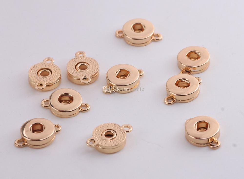 12mm Noosa Ginger Snap Button alloy charms Pendant Fittings For Snap Bracelets& Necklace earrings Snaps Jewelry Accessory Interchangeable