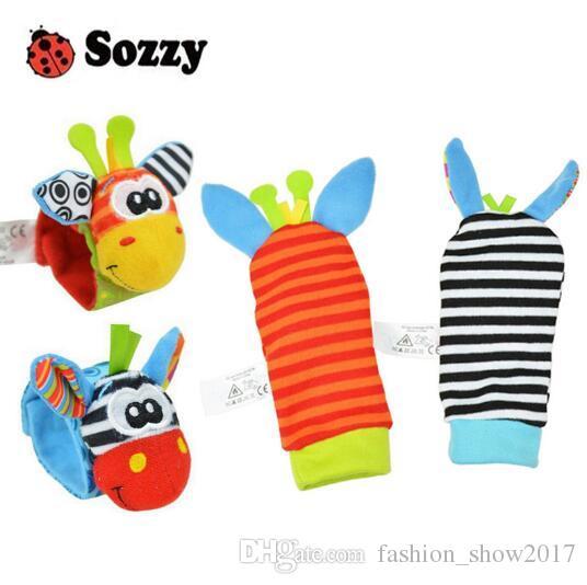 Sozzy الساخن الطفل لعبة الجوارب الطفل اللعب هدية أفخم حديقة علة المعصم راتل 3 أنماط ألعاب تعليمية لطيف لون مشرق