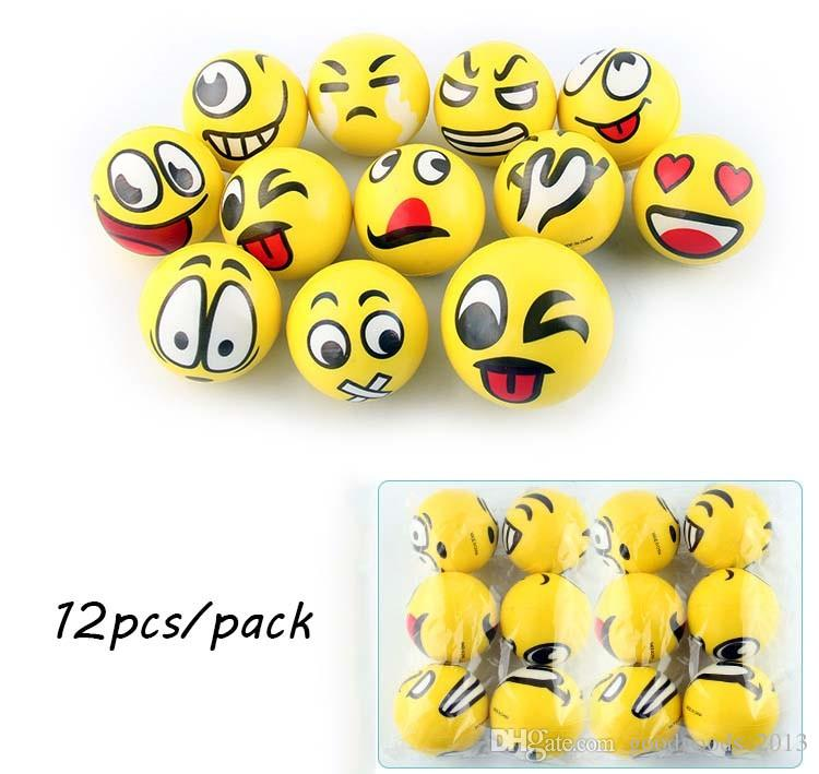 New FUN Emoji Face Squeeze Balls Stress Relax Emotional Toy Balls Fun balls free shipping b1452