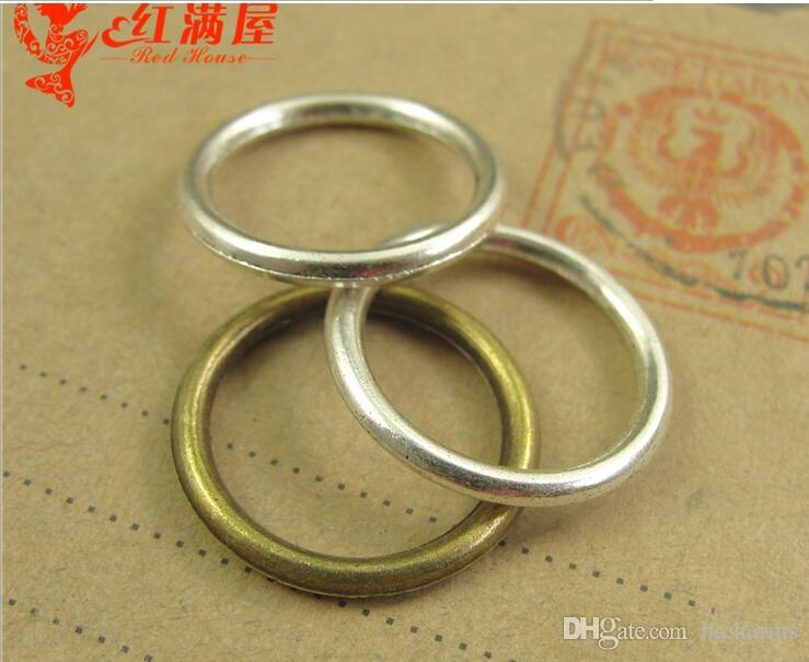 19MM Antique Bronze round ring connector charms for bracelet, vintage silver circle pendants for necklace, tibetan jewelry making findings