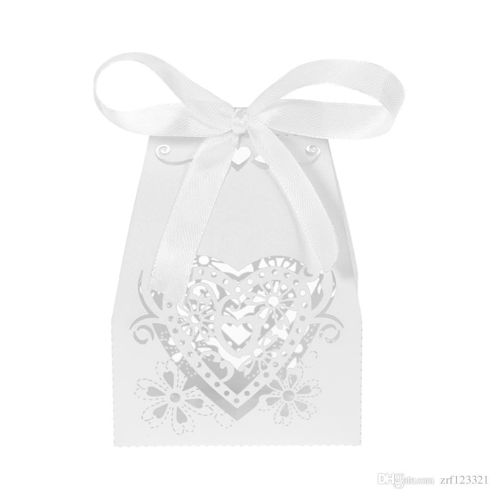Mini Laser Cut Hollow Wedding Favor Box Candy Boxes White Gift Box ...