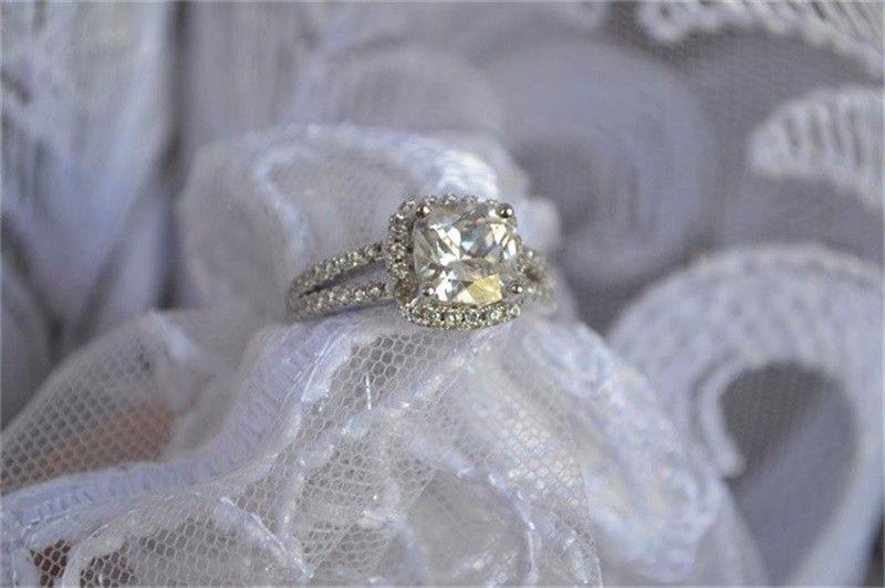 YHAMNI Оригинальные Ювелирные Изделия Стерлингового Серебра 925 Обручальные Кольца для женщин С 8 мм CZ Бриллиантовое Обручальное Кольцо Оптовая J29HG