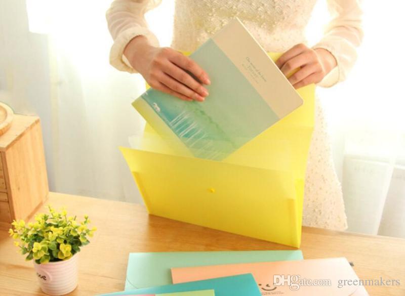 Korean Office Plastic cute emoji File Folders Multi Pockets Expanding File Organizer A4 Portable Paper Documents Wallet bag PVC File Case