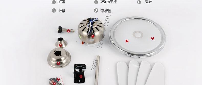 Chandelier fan lights LED bedroom fan light chandelier minimalism modern remote control ABS leaves chandelier fans 48inch