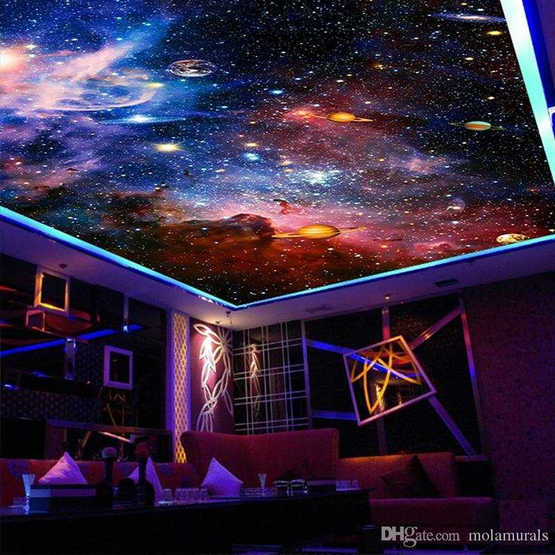 Benutzerdefinierte 3D-Fototapeten Sternraum für Wohnzimmer Hotel Lobby Tagungsraum Decke Zenith Wandbild Tapeten