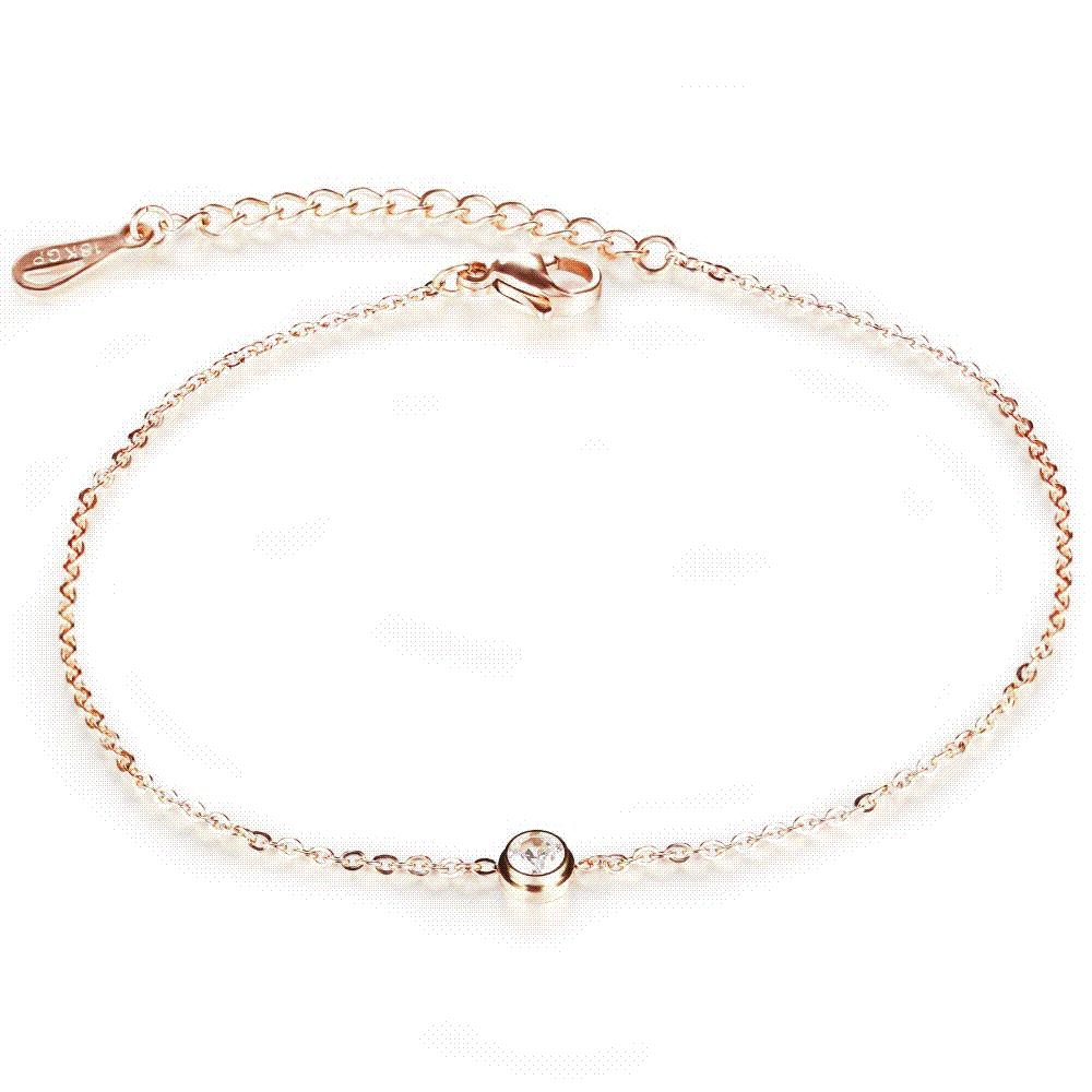 gold anklet rose product silver personalised oodlique chain or com