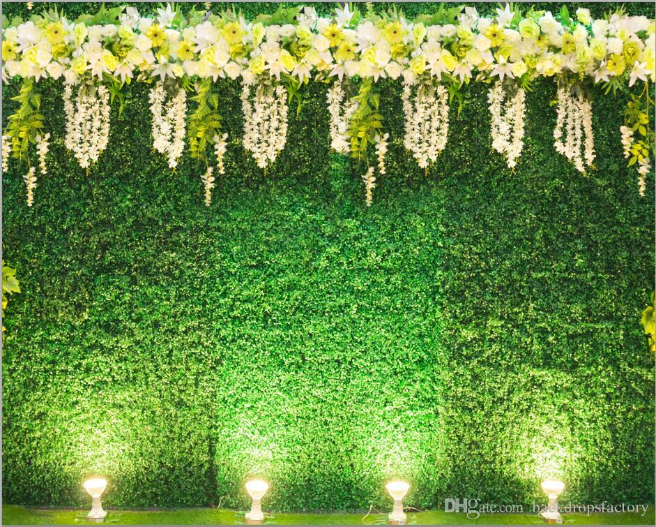 2019 Digital Printed Green Leaves Wall Backdrop For
