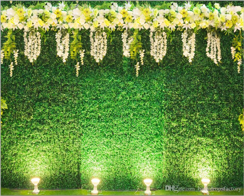 2019 digital printed green leaves wall backdrop for wedding