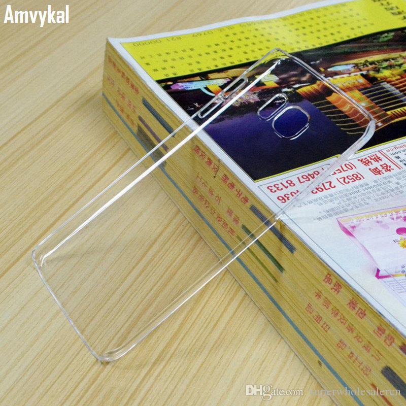 1,3 milímetros dura do PC transparente brilhante capa para Samsung Galaxy S10 5G S9 S8 S7 S6 Plus Nota Caso 10 9 8 5