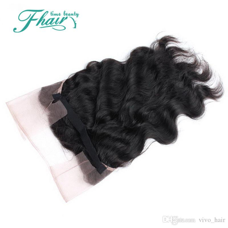 8A No Tangle No Shedding Natural Color Best Brazilian Body Wave 3 Bundles Hair With 360 Lace Band Frontal DHL