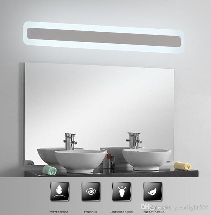 Großhandel Moderne Acryl Bad Licht Makeup Spiegel Blei Licht ...