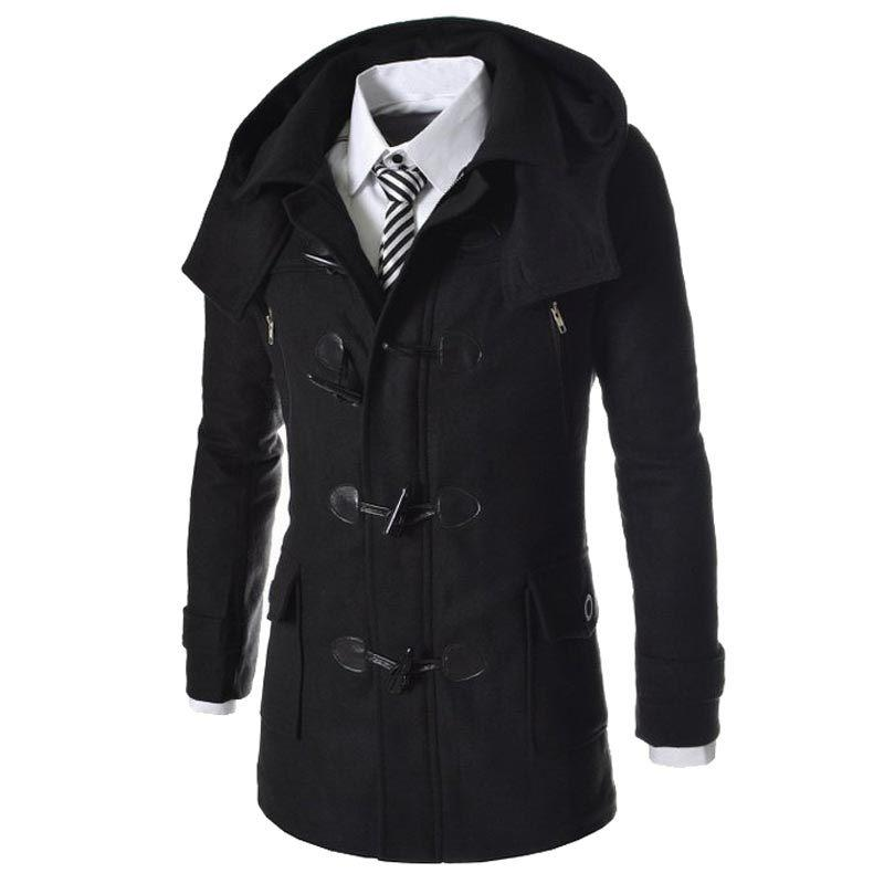 30c84ea95 2019 Wholesale New Brand Duffle Coat Men 2016 Autumn Winter Fashion ...