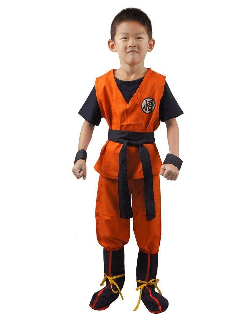 kukucos anime dragon ball z son saiyan cosplay costume kids uniform