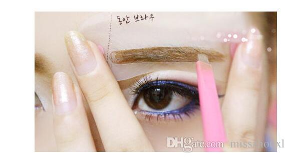 Sopracciglio Sobrancelha Moldar Stencil Grooming Template Mulheres Beleza Maquiagem Ferramentas Fácil Uso