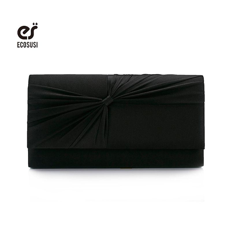 9d2bef291 Wholesale- Ecosusi Women Satin Rhinestone Evening Clutch Bag Ladies ...