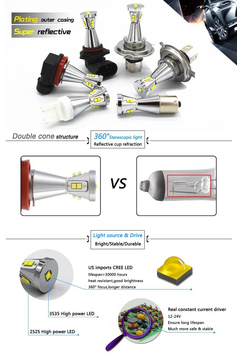 Новый 12~24В 45Вт Т20-7740/7743 автомобилей свет лампы LED для стоп-сигнал поворота парковка signallight белый