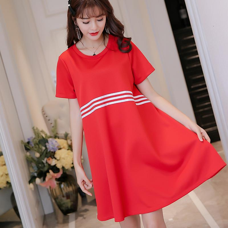 e40cc797ade0 2017 Women Dress New Style Short Sleeve Summer Cute Loose Red Black Mini Solid  Women Casual Party Club For Womens Blue Dresses Plus Size Cocktail Dresses  ...