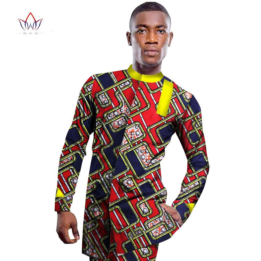 2018 wholesale brw 2017 african men 39 s shirt print wax for Custom printed dress shirts