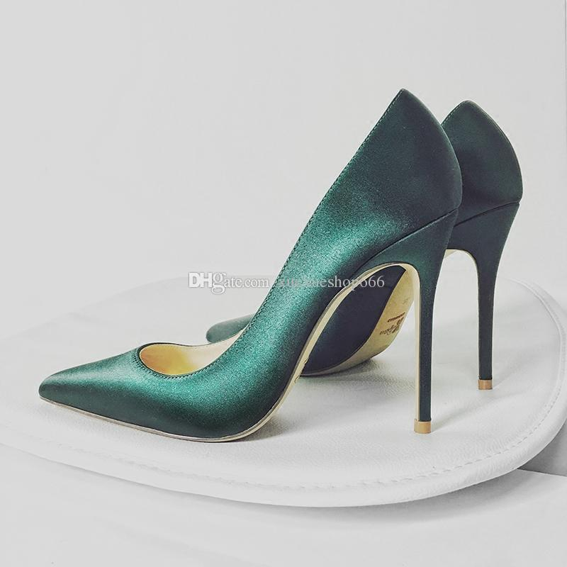 1ac5ce65a0ea New Women High Heel Shoes Silk Pointed Toe Stiletto Heel Women S Black  Professional High Heels Shoes Elegant Red Wedding Banquet Shoes Dress Shoes  For Men ...