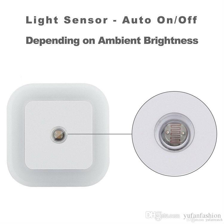 Novelty Lighting 0.5W Plug-in LED Night Light Lamp with Dusk to Dawn Sensor, Daylight White