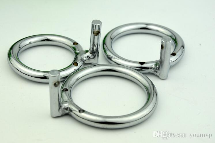 Metal cock Ring for Male Chastity Device Part ring for Cock cage, 3 sizes for choice