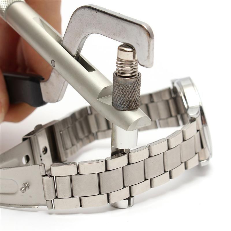 Лучшее продвижение часовщик часы для группы браслет Ссылка Pin Remover ремонт плоскогубцы комплект инструмент отличное качество часы ремонт инструмента